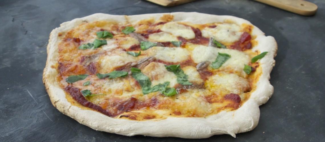 Pizza med ansjos